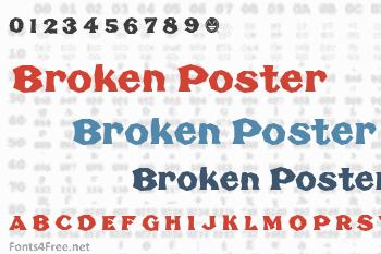 Broken Poster Font