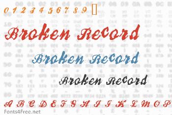 Broken Record Font