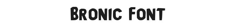 Bronic Font