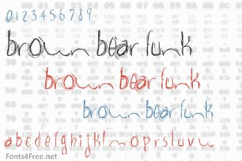 Brown Bear Funk Font