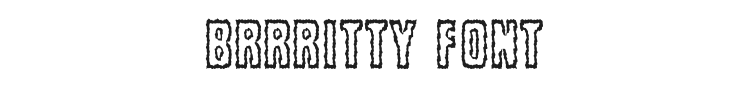 Brrritty Font Preview
