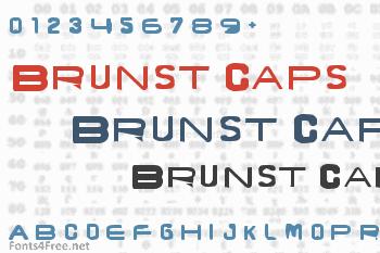 Brunst Caps Font