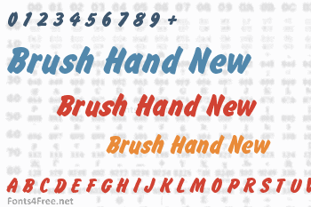 Brush Hand New Font