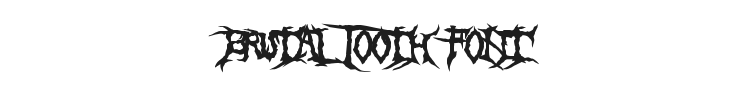 Brutal Tooth Font Preview