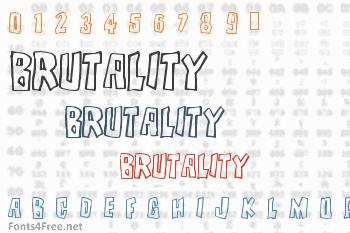 Brutality Font