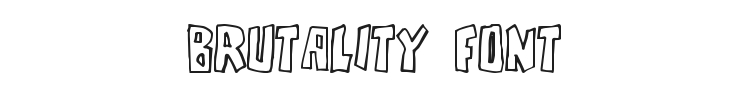 Brutality Font Preview