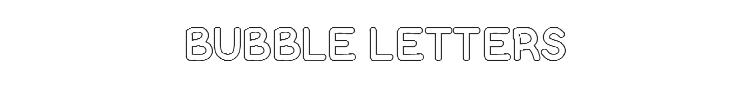 Bubble Letters Font Preview