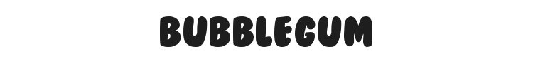 BubbleGum Font Preview