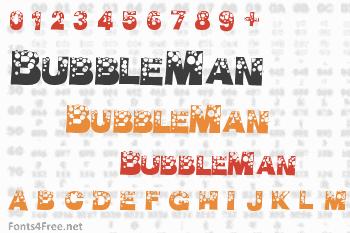 BubbleMan Font