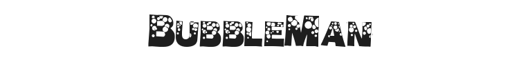 BubbleMan Font Preview