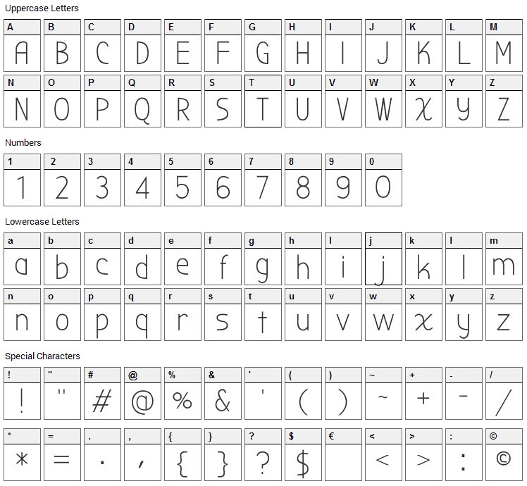Bubbler One Font Character Map