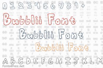 Bubblii Font