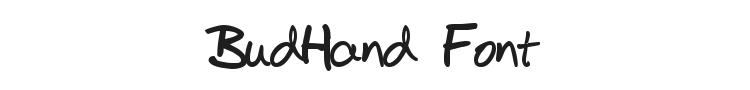 BudHand Font
