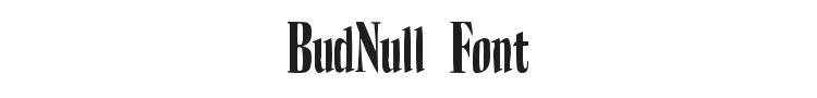 BudNull Font
