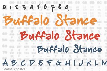 Buffalo Stance Font