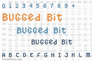 Bugged Bit Font