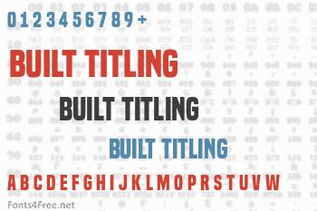 Built Titling Font