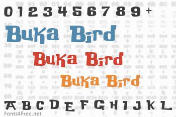 Buka Bird Font
