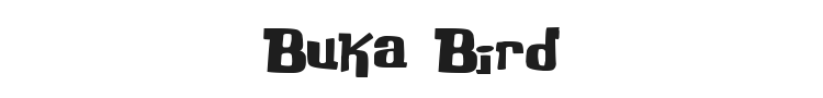 Buka Bird Font Preview