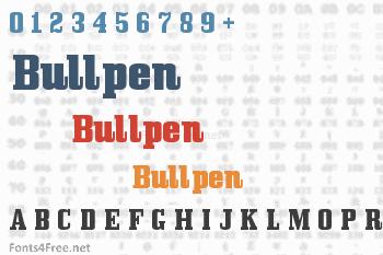 Bullpen Font