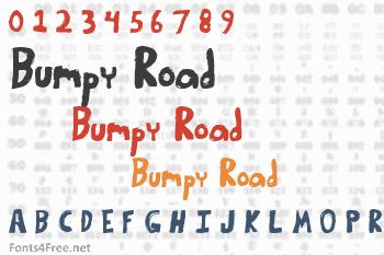Bumpy Road Font