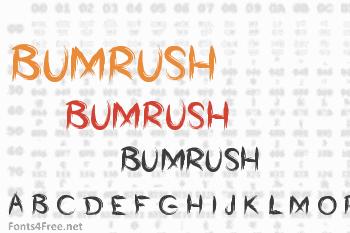 Bumrush Font