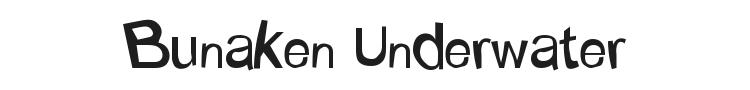 Bunaken Underwater Font