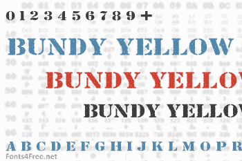 Bundy Yellow Font