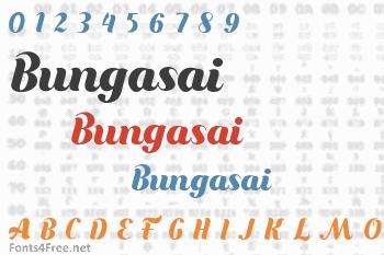 Bungasai Font