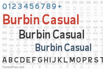 Burbin Casual Font