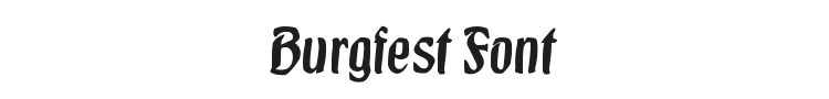 Burgfest Font