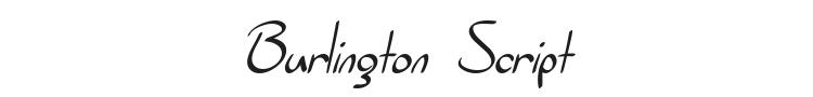 Burlington Script Font Preview