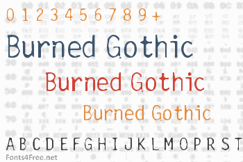 Burned Gothic Font