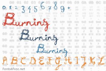 Burning Font