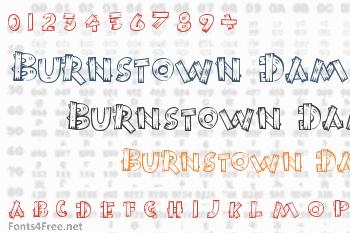 Burnstown Dam Font