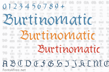 Burtinomatic Font