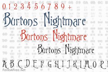 Burtons Nightmare Font