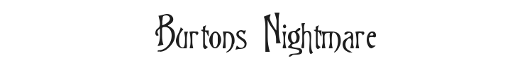Burtons Nightmare Font Preview