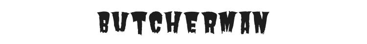 Butcherman Font Preview