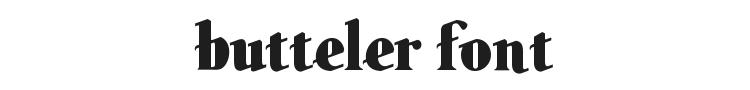 Butteler Font Preview