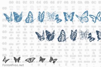 Butterflies Font