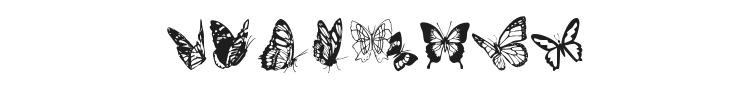 Butterflies Font Preview