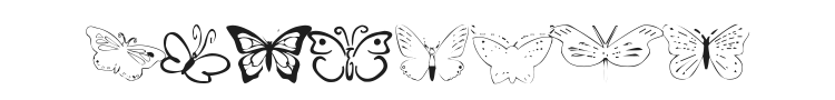 Butterfly Heaven Font Preview