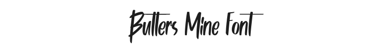Butters Mine Font Preview