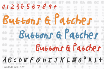 Buttons & Patches Font