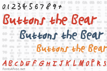 Buttons the Bear Font