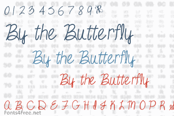 By the Butterfly Font