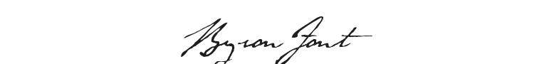 Byron Font Preview