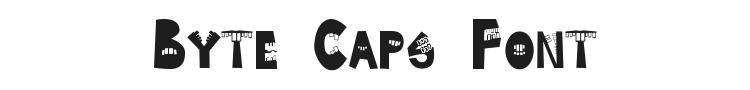 Byte Caps Font Preview