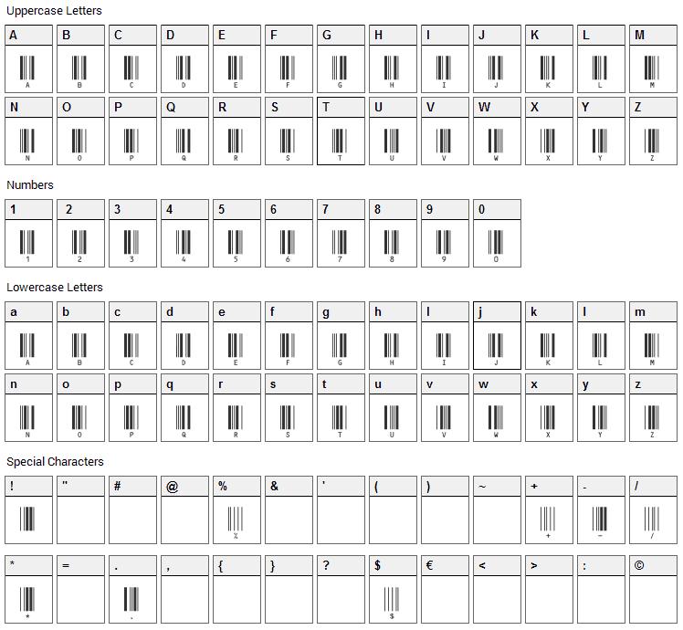 c39hrp36dltt Font Character Map